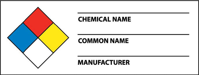 Nfpa Chemical Write-On Warning Label - Roll