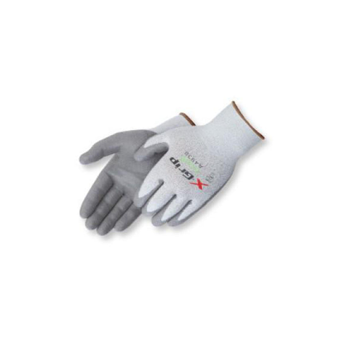 X-Grip Gray polyurethane palm coated Gloves
