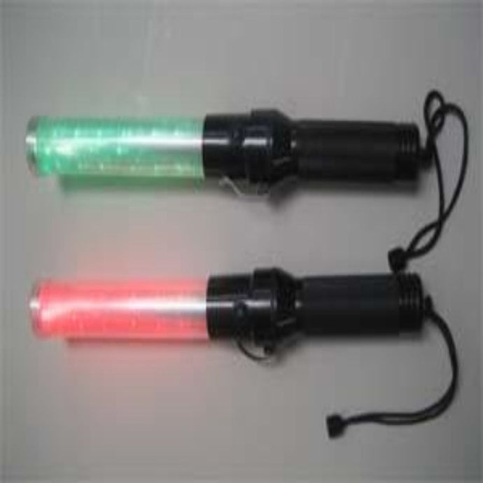 Roadside Safety Red & Green Traffic Baton/Flashlight