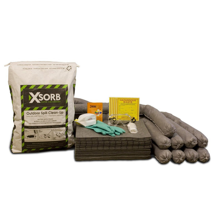 XSORB Outdoor All-Purpose 30 gal Labpack Spill Kit - 1 DRUM