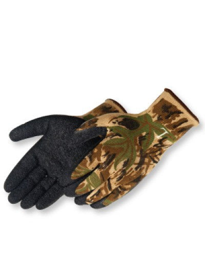 A-Grip Textured Black Latex Coated (Camouflage) Gloves - Dozen