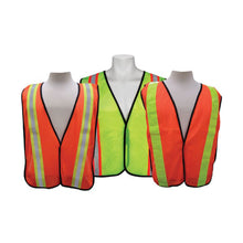 "Load image into Gallery viewer, 3A Safety All-Purpose Mesh Safety Vest 2"" Vertical Stripe"