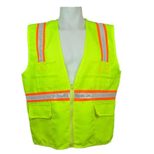 Load image into Gallery viewer, 3A Safety - Multi-Pocket Surveyor's Safety Vest - Solid Front/Back