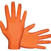 Astro Grip Powder-free 7mil Nitrile Orange Hi-Visibility Glove