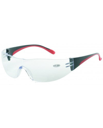 iNOX F Reader - Bifocal +1.0 clear lens with black and red frame