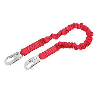 DBI/SALA 6' PRO Stretch Shock Absorbing Lanyard With Self Locking Snap Hooks On Both Ends