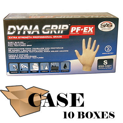 Dyna Grip Powder-free Latex Exam Gloves - Case Size 2X-large