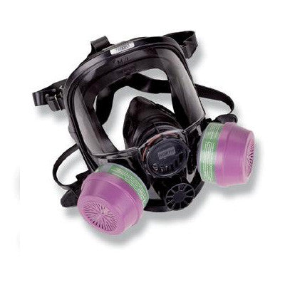 North - Black Silicone 7600 Series Full Face Facepiece With Speech Diaphragm
