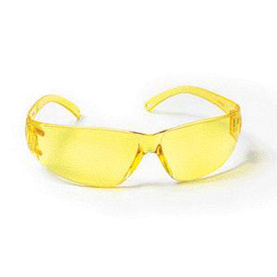 Radnor Classic Series Safety Glasses With Amber Frame And Amber Polycarbonate Anti-Fog Anti-Scratch Lens
