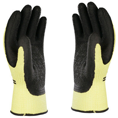Atlas Black Grip Natural Rubber Cut-Resistant Work Gloves S-TEX 303