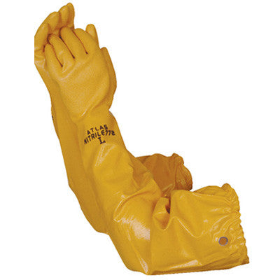"Atlas 772 26"" Chemical Resistant Double dipped Nitrile Glove (Dozen Pair)"