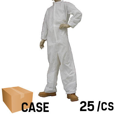 Environstar Medium Weight Coverall with Collar, Elastic Wrist & Ankle - Case