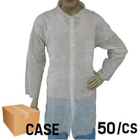 Lab Coat with Cut Wrist and Front Pocket - Case