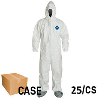 Dupont - Tyvek Disposable Coveralls with Hood and Boots - Case