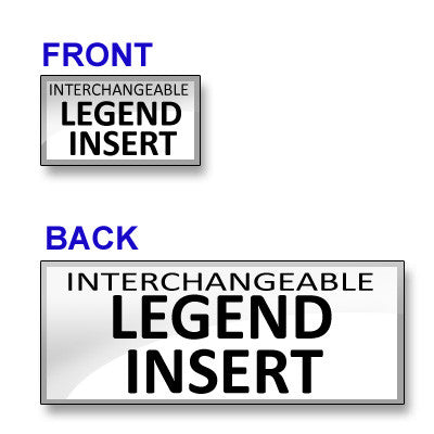 Inserts for Incident Command Vest (Front and Back)