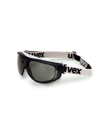 Uvex Carbonvision Goggles With Black and Gray Frame, Gray Anti-Fog, Anti-Scratch Lens And Fabric Headband