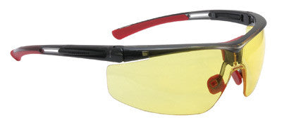 North By Honeywell Safety Glasses With Black Frame And Amber 4A Anti-Fog, Anti-Static And Anti-Scratch Lens