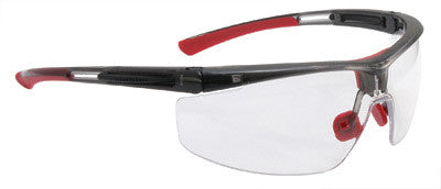 North By Honeywell Safety Glasses With Narrow Size Black Frame And Clear 4A Anti-Fog, Anti-Static And Anti-Scratch Lens