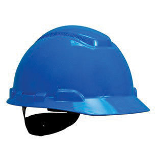 3M Blue Polyethylene Hard Hat With 4-Point Ratchet Suspension And Uvicator UV Sensor (20 pairs)
