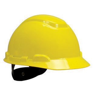 3M Bright Yellow Polyethylene Hard Hat With 4-Point Ratchet Suspension And Uvicator UV Sensor (20 Pairs)