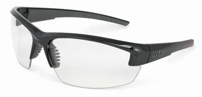 Uvex Mercury Safety Glasses With Black And Gray Frame And Clear Hard Coat Anti Scratch Lens (10 Pairs)
