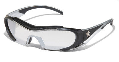 Crews Hellion Indoor/outdoor Safety Glasses,Clear Miroor Black, Anti-Fog