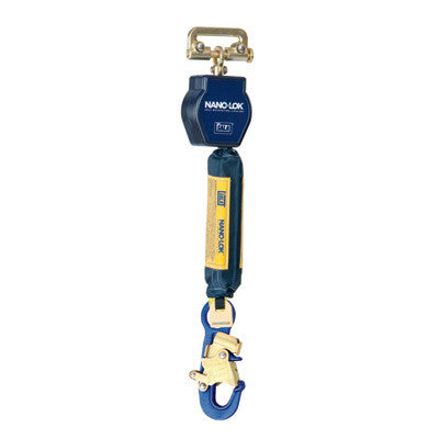DBI-SALA Nano-Lok Single Leg Self Retracting Lifeline With Quick Connector And Aluminum Snap Hook