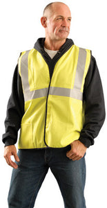 Classic Flame Resistant Cotton Solid Vest Single Stripe