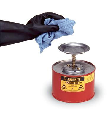 Justrite 1 Quart Red Plunger Can For Flammables