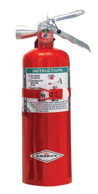 Amerex 5 Pound Halotron I Fire Extinguisher With Aluminum Valve And Vehicle Bracket