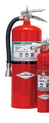 Amerex 11 Pound Halotron I Fire Extinguisher With Brass, Chrome Plated Valve And Wall Bracket