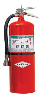 Amerex 15-1/2 Pound Halotron I Fire Extinguisher With Brass, Chrome Plated Valve And Wall Bracket