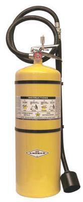 Amerex 30 Lbs Class D Sodium Chloride F.M. Approved Fire Extinguisher With Wall Bracket