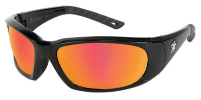 Crews Force Flex Safety Glasses with Fire Mirror Lens (12 Pack)