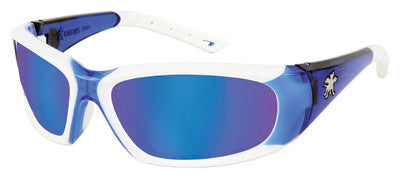 Crews Force Flex Safety Glasses Blue Diamond Mirror Lens (Pack of 12)