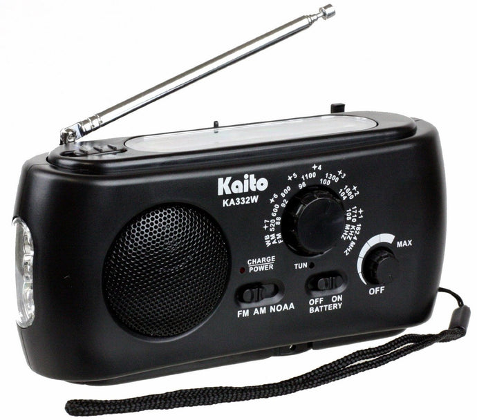 Kaito Emergency Solar Hand Crank AM/FM Weather Radio with Flashlight