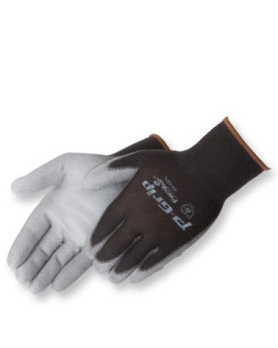 P-Grip  Grey polyurethane - black shell Gloves - Dozen