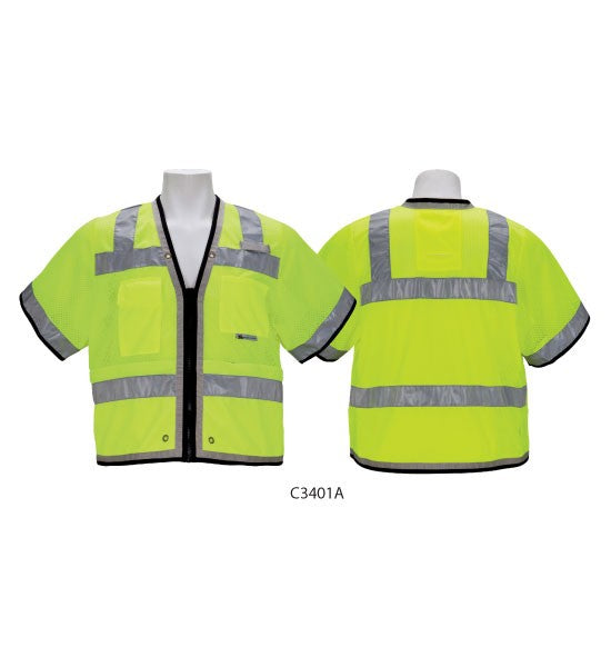 3A-Safety Heavy Duty Surveyor's Vest Fire Resistant