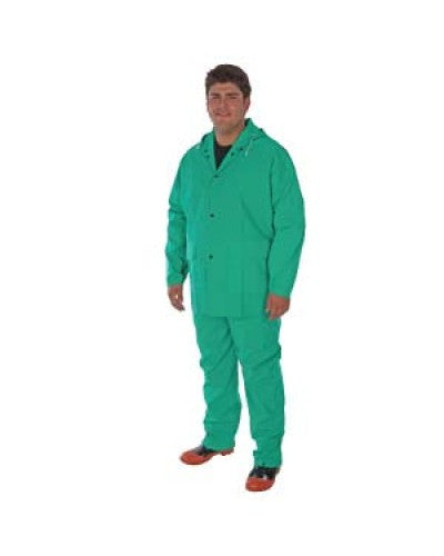 Liberty - Durawear Pvc/Nylon/Pvc 2-Piece Green Acid Rainsuit