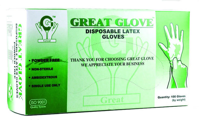 Great Gloves - Powder-free Latex Gloves - Box