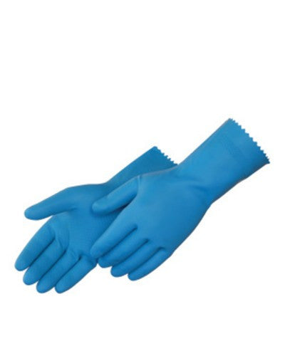 Blue latex canners Gloves - Dozen