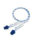 Howard Leight - Multiple Use Clarity - 4-Flange Large (Blue) Multi-Material Woven Corded Earplugs With Reusable - Case (10 pr/bx)