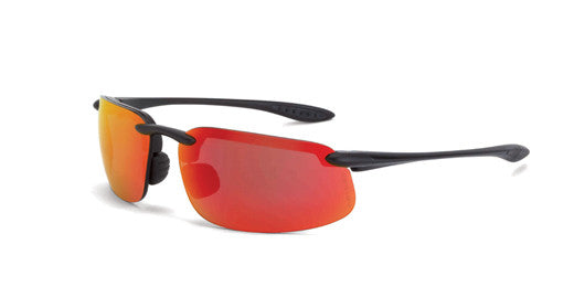 ES4 HD Red Mirror Lens Matte Black Frame