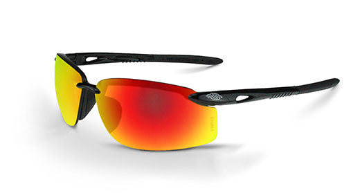 ES5W Fire Mirror Lens Shiny Black Frame