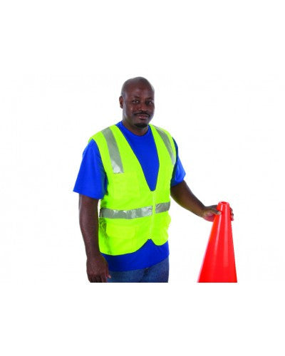 Liberty - Class 2 - Surveyors Vest (Solid Fabric With Silver Stripes)