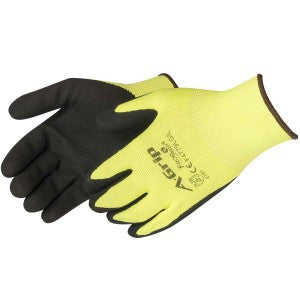 Liberty-A-GRIP® - PREMIUM TEXTURED BLACK FOAM LATEX PALM COATED SEAMLESS GLOVE