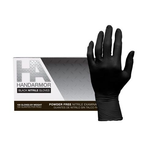 Work Shield Hand Armor Nitrile 6 MIL Examination Gloves - Powder Free, Black (Box or Case)