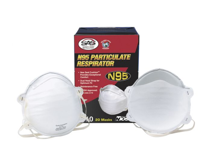 SAS Safety 8710 N95 Particulate Respirator - Box
