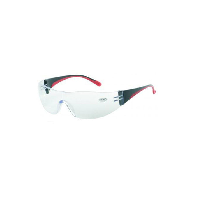iNOX F Reader - Bifocal +1.5 clear lens with black and red frame