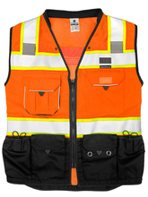 Load image into Gallery viewer, ML Kishigo - Premium Black Series Surveyors Vest - Orange